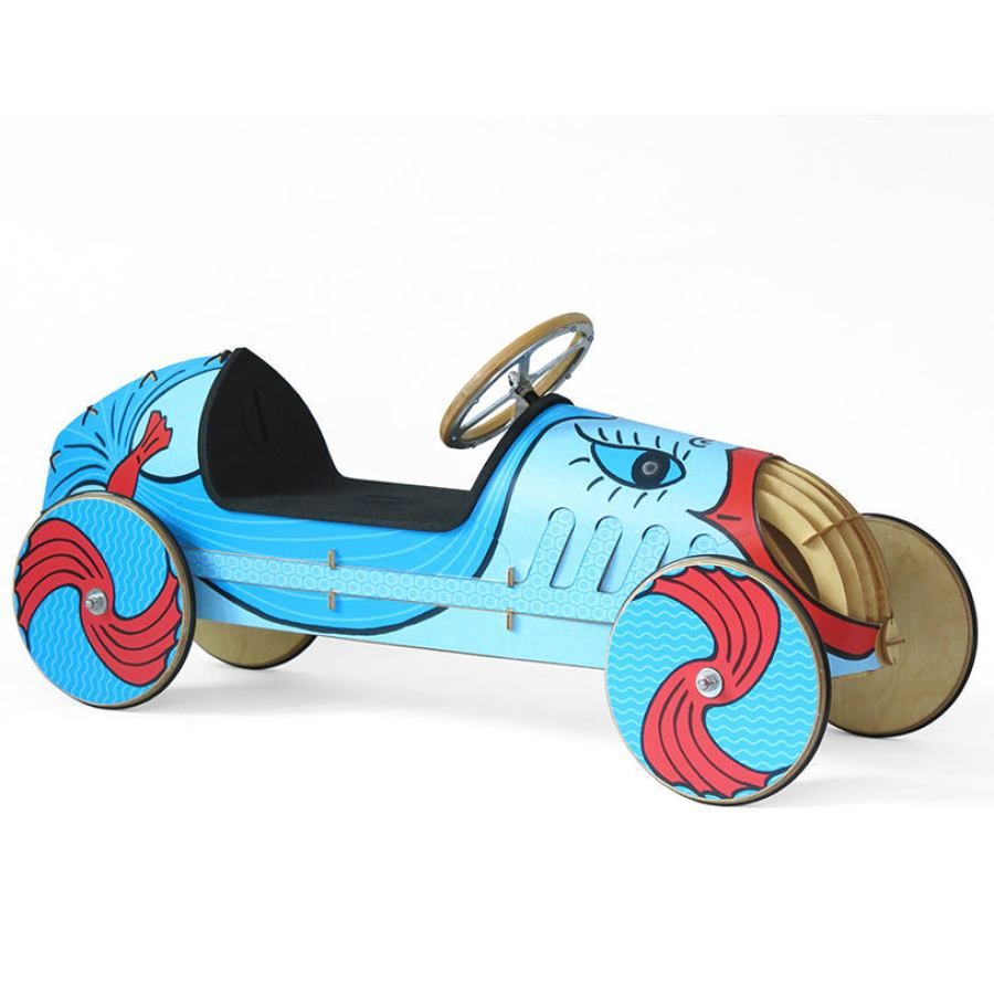 Wooden Ride-On Car for Kids, model