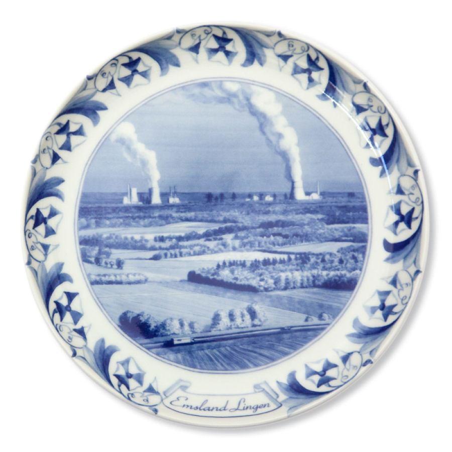 Atomteller Emsland / Lingen aus Porzellan