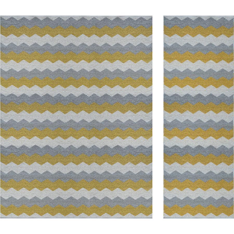 """Swedish Outdoor Rug """"Luppio"""" (Yellow/Sand) for indoor & outdoor"""
