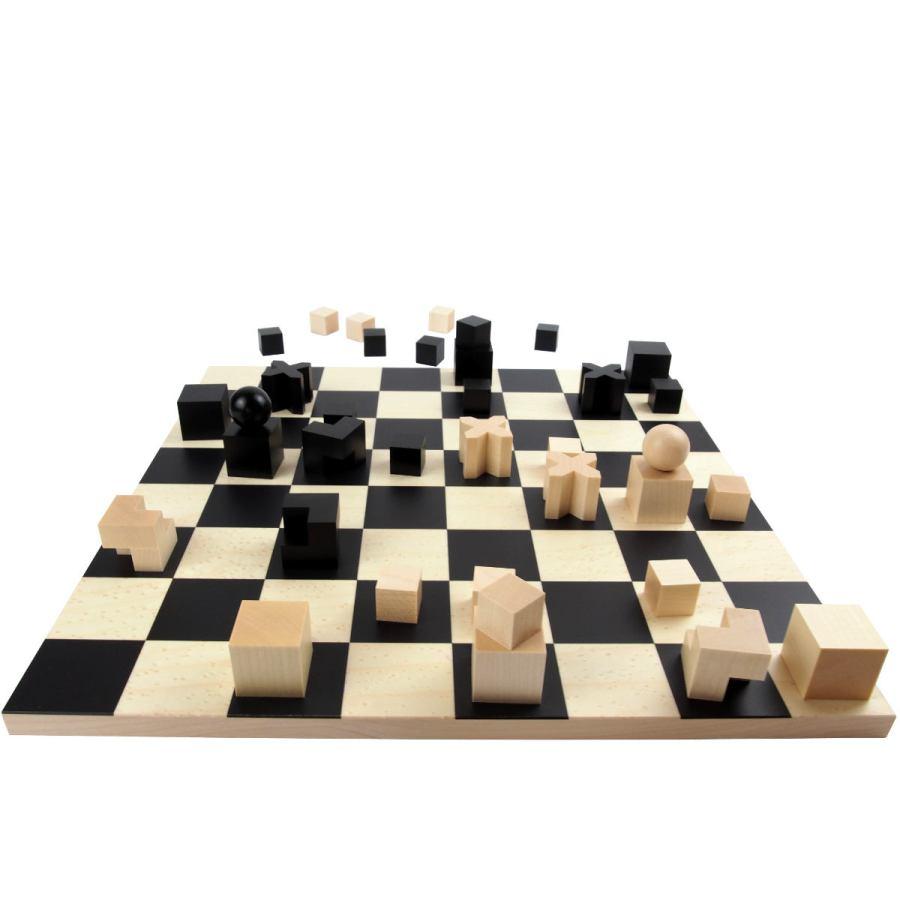 Handgefertigtes Bauhaus-Schachspiel nach Originalentwurf