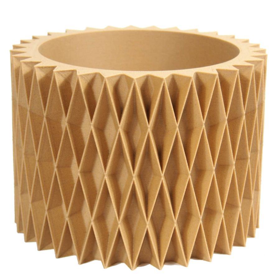 Sustainable design planter with geometrical decor Ø 14 cm