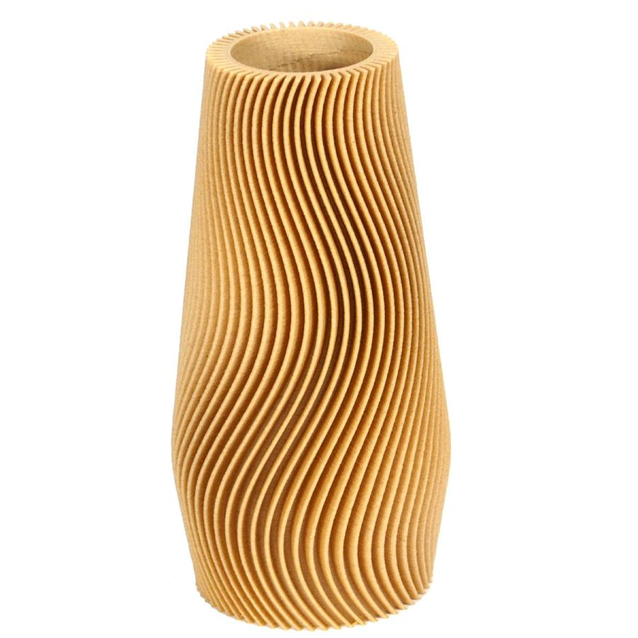 Sustainable design vase with wave structure Ø 3,5 cm