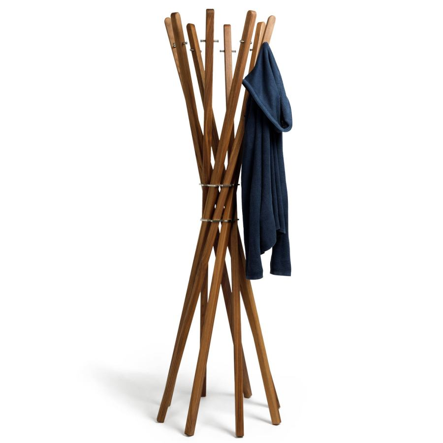 Design Clothes Rack / Hall Stand made of Solid Walnnut Wood