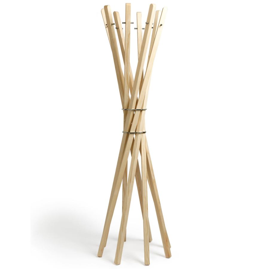Design Clothes Rack / Hall Stand made of Solid Ash Wood