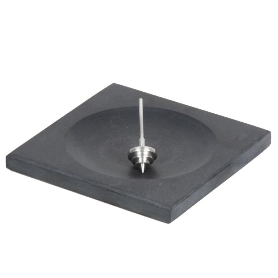 Geschenk-Set: Aluminium-Kreisel mit Kreiselplatte aus portugiesischem Schiefer