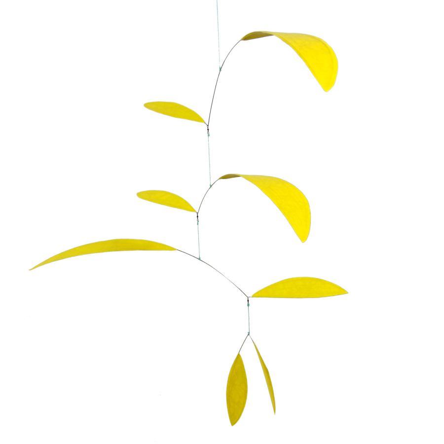 Handpainted Yellow Art Mobile