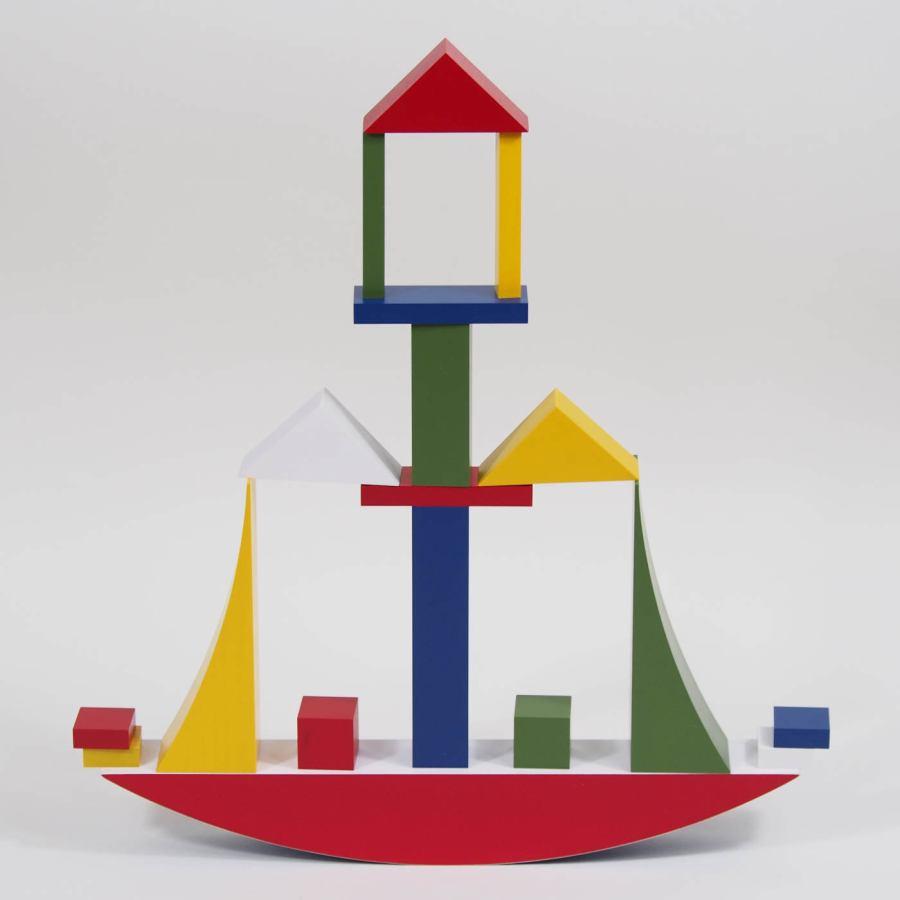 Original Bauhaus Bauspiel Construction Game by Naef