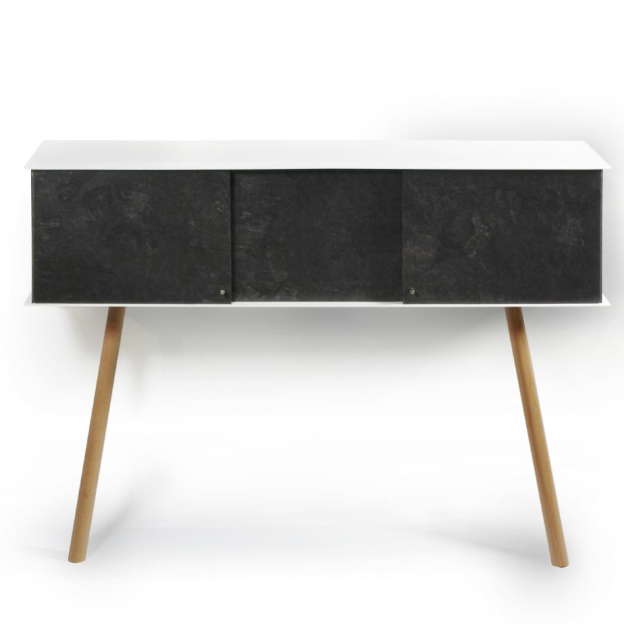 Leaning Sideboard with Slate Look (100 x 25 cm)