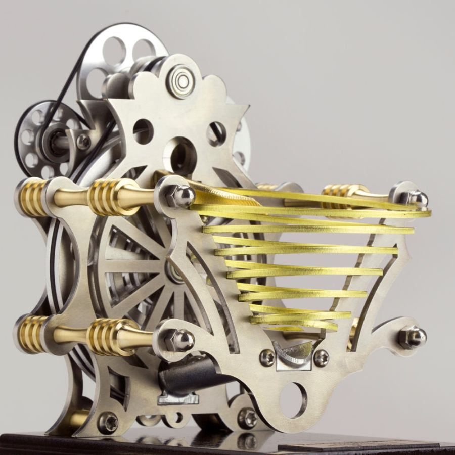 Elaborate Marble Machine made of Brass and Steel