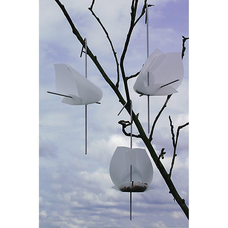 Drei kleine Vogelhäuschen im Umschlag (zum Stellen oder Hängen)