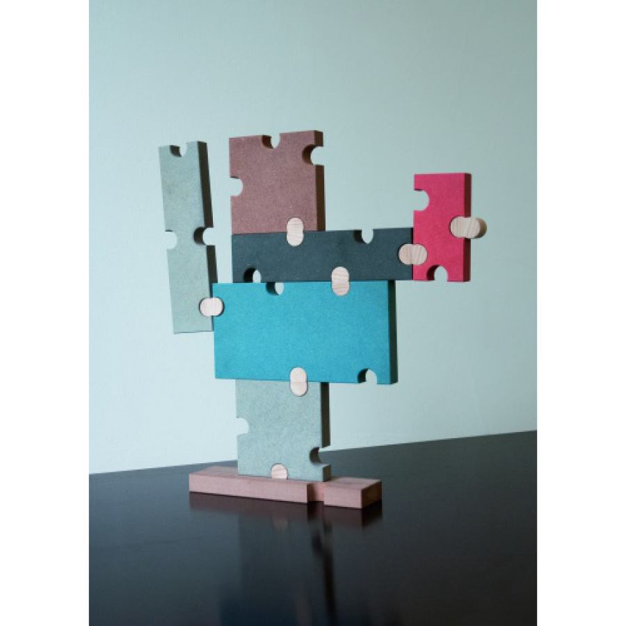 Abstract combination / puzzle toy made of MDF