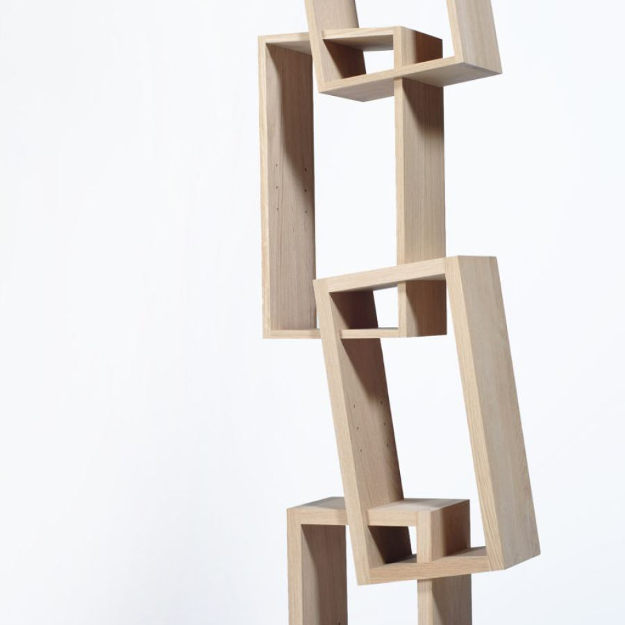 This bookshelf almost seems to defy gravity