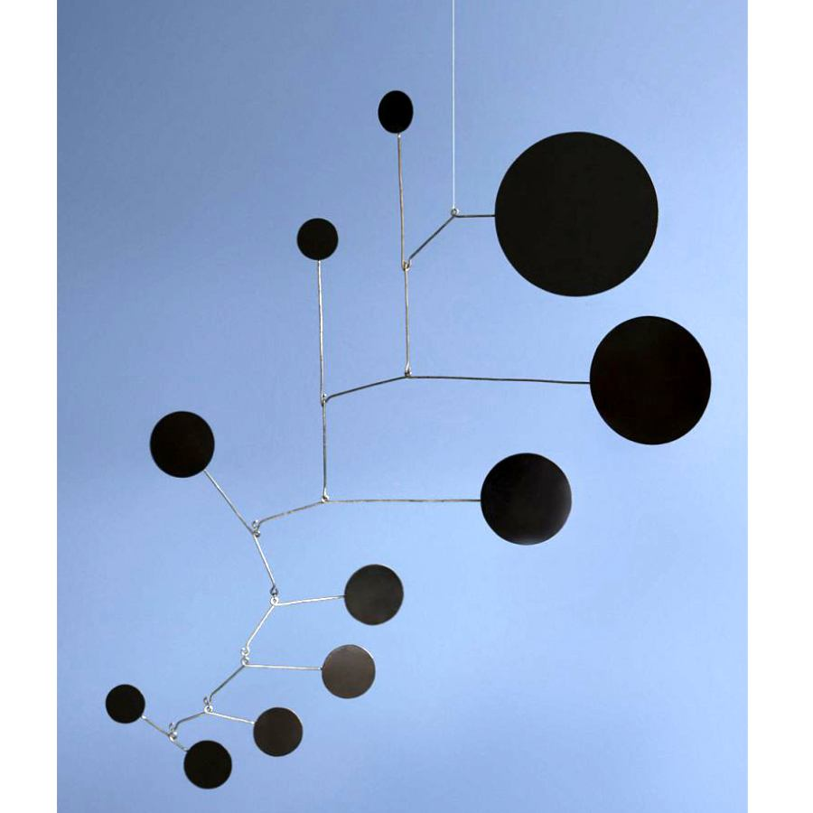 "Exclusive Mobile ""Dots"" made of black laquered brass (70 x 70 cm)"