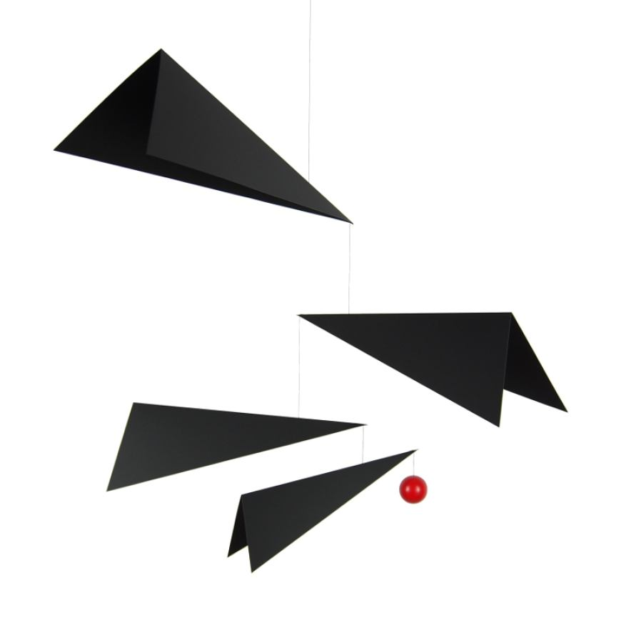 "Mobile ""Wings"" with black flying objects (60 x 65 cm)"