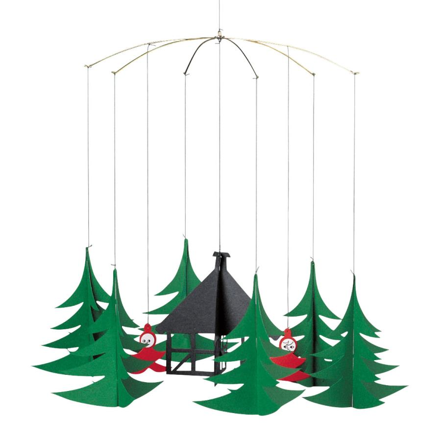 "Scandinavian Children's Christmas Mobile ""Pixies in the Xmas Forest"""