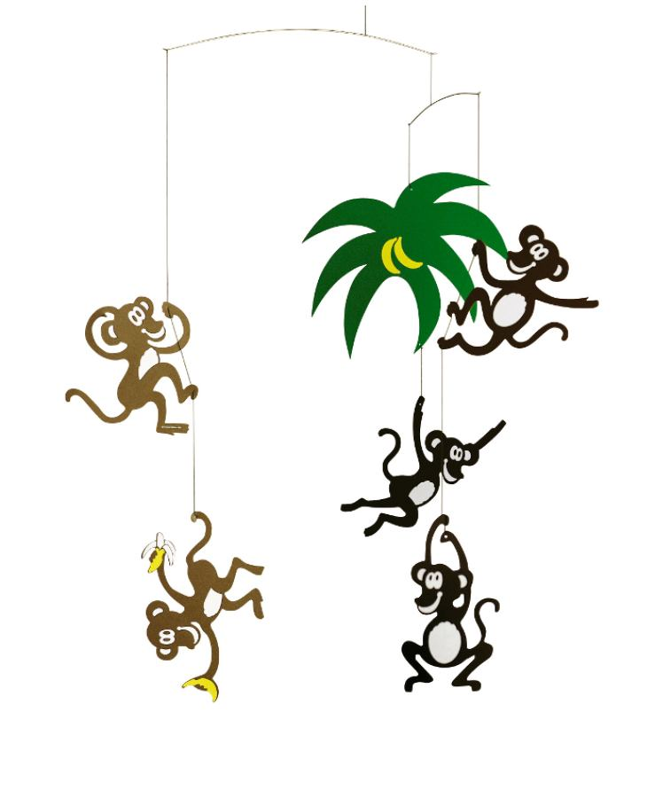 "Colorful Mobile ""Monkey Tree"" for Babies & Children"