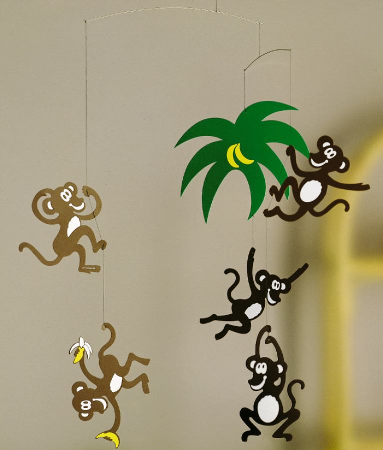 Monkey Tree- mobile for babies and children by Flensted | Kunstbaron