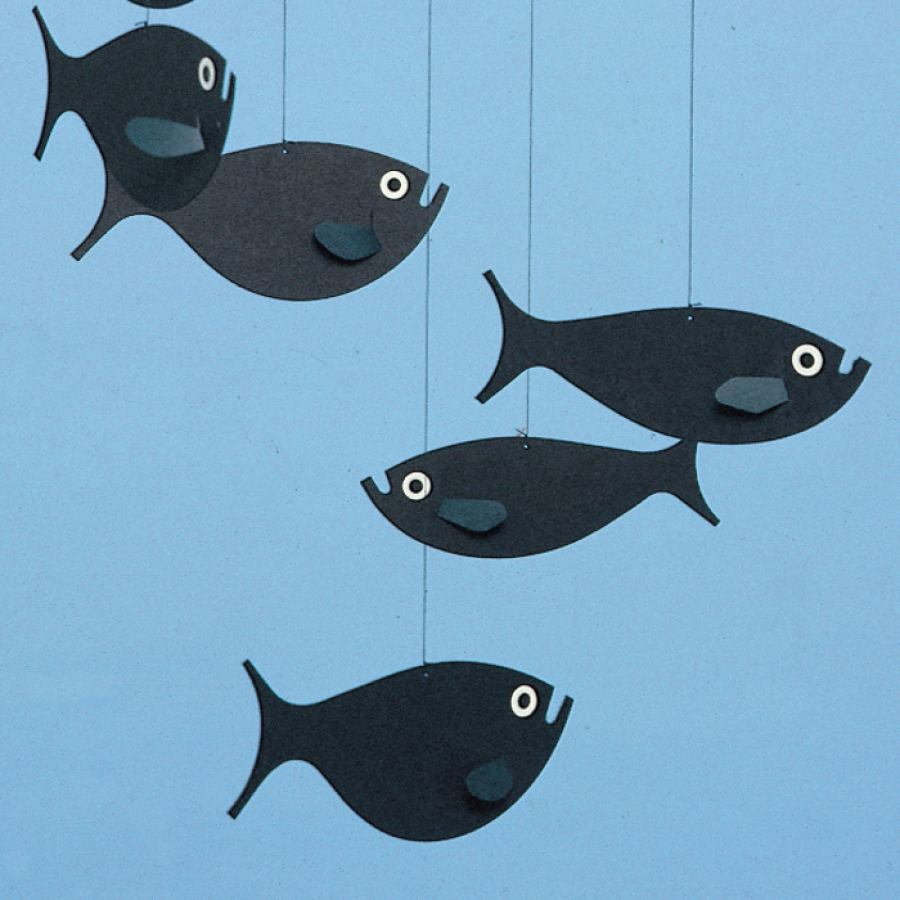 "Mobile ""Shoal of Fish"" for Babies and Children"