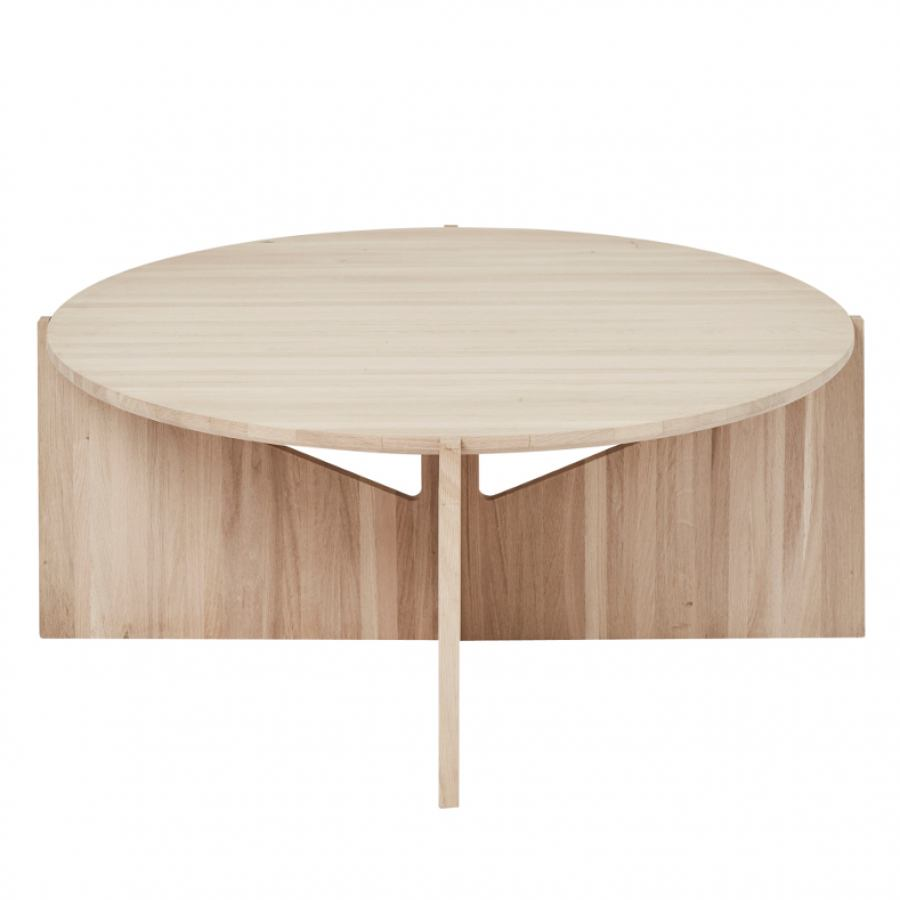Bauhaus-inspired Coffee Table with Round Top (Ø 75 cm)
