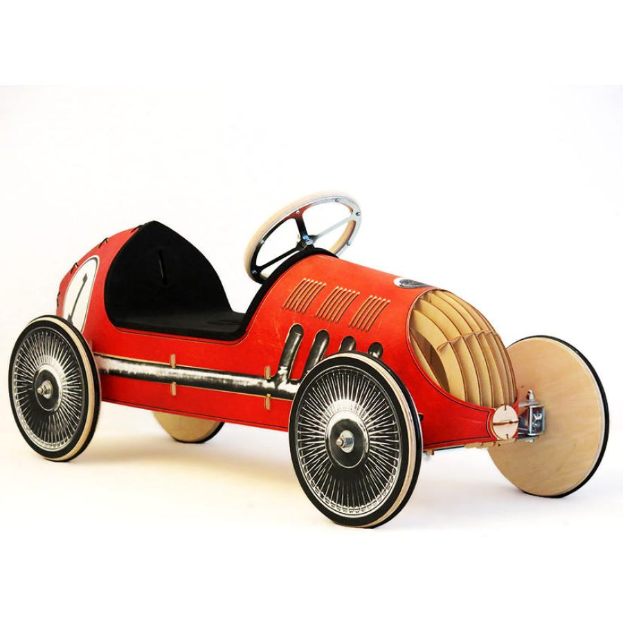 "Wooden Ride-On Car for Kids, model ""Racing Rotraud"""