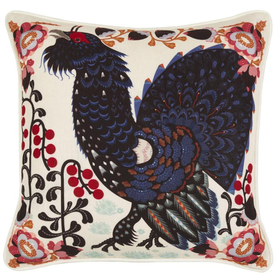 Cotton/linen cushion sleeve 'Grouse' 44x44