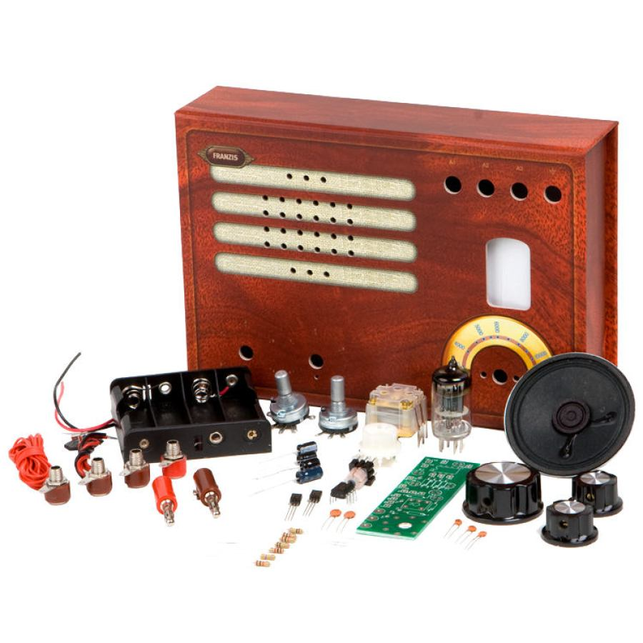 Small Retro Tube Radio as Kit for Assembly