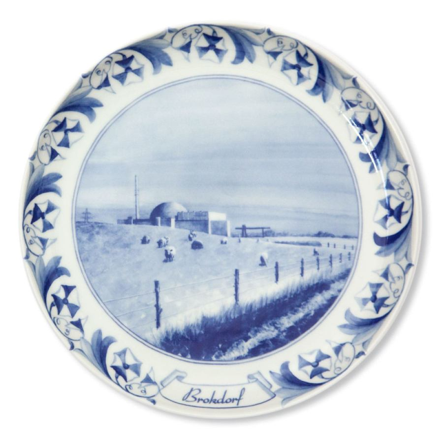 Nuclear Plate Brokdorf made of porcelain | Kunstbaron