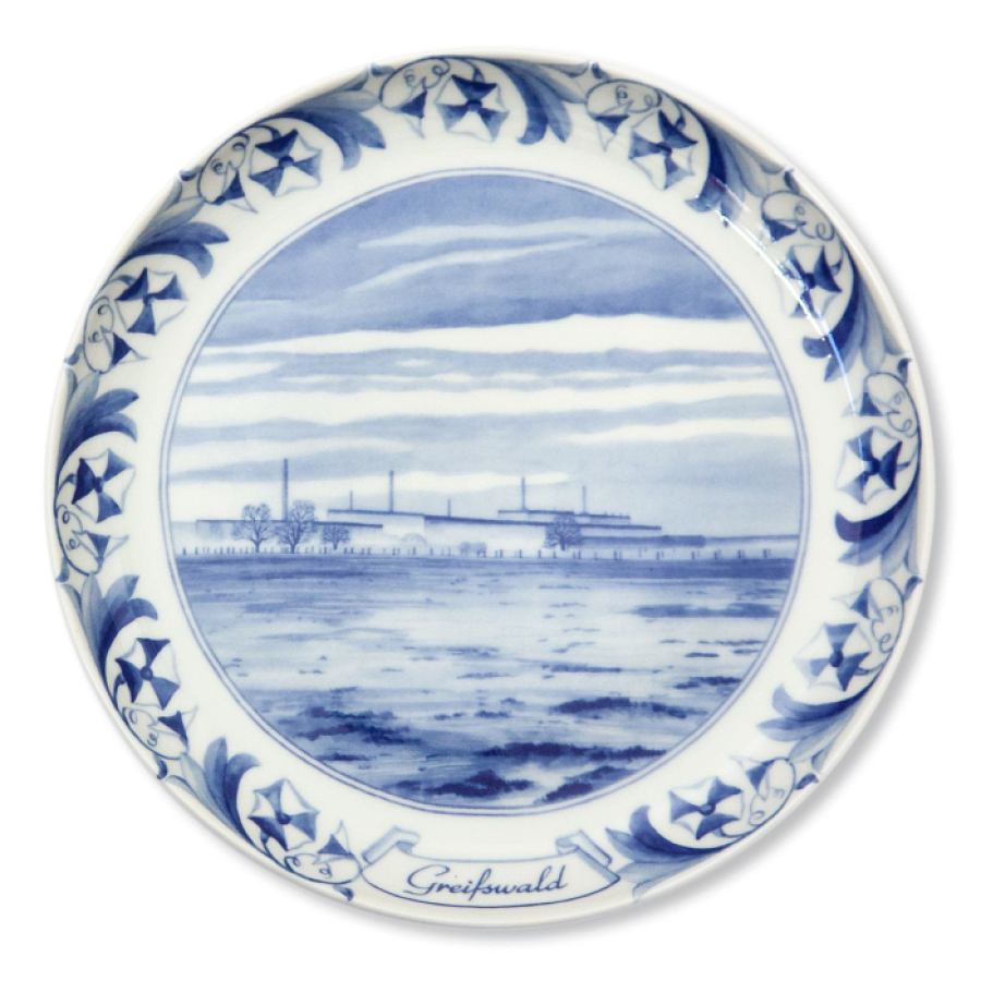 Nuclear Plate Greifswald made of porcelain | Kunstbaron