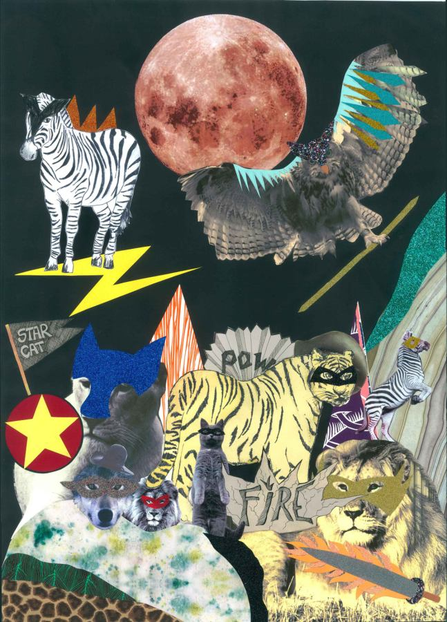 Poster Kunstdruck Animal Heroes