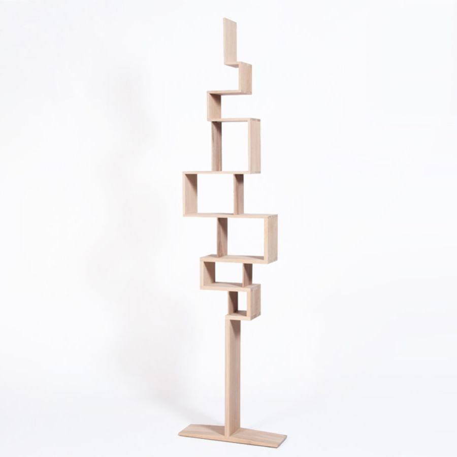 Tree-shaped bookcase made of solid wood (height 240 cm)