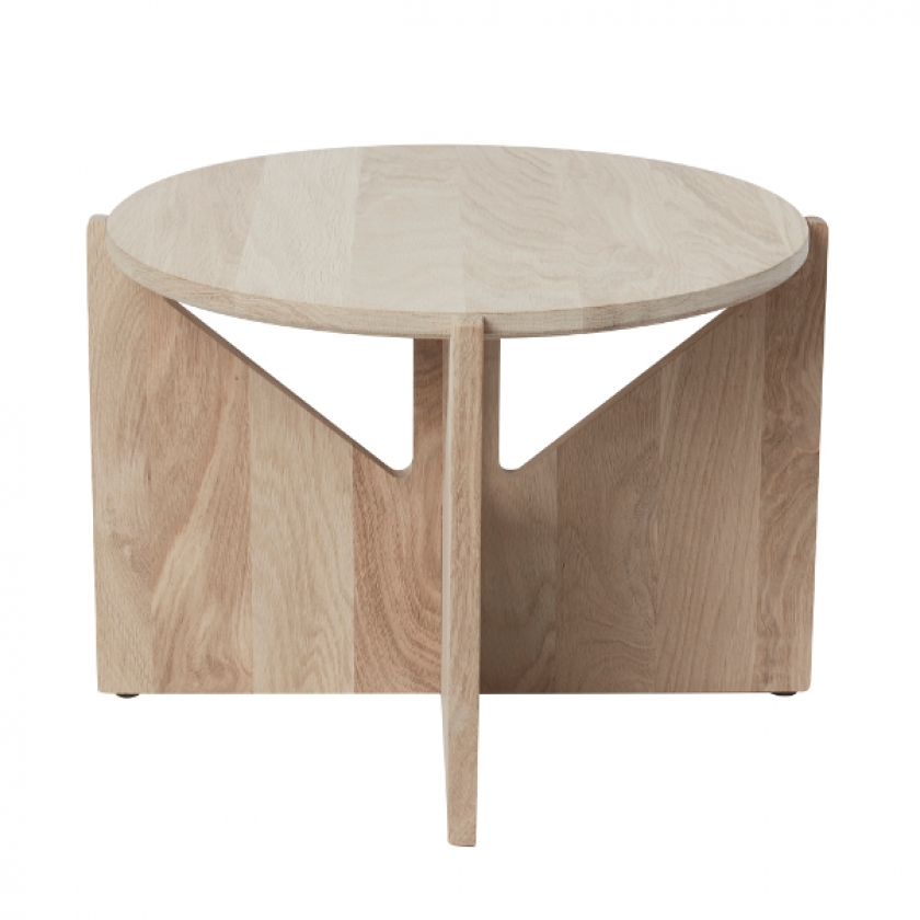 Bauhaus Design Side Table Natural Oak (Ø 52 cm)