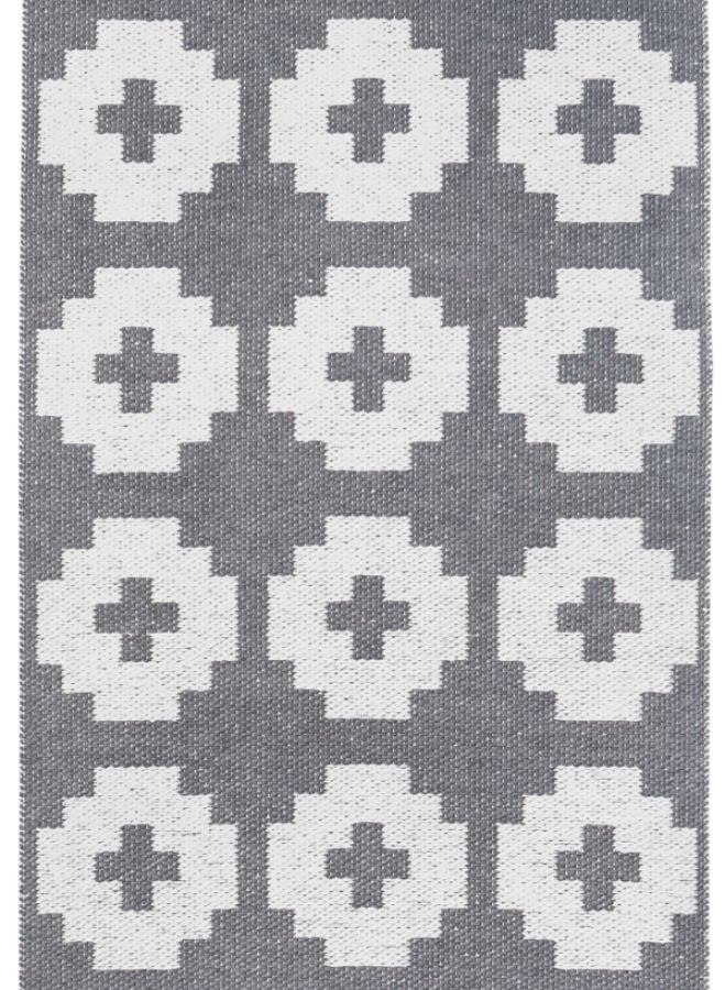 "Swedish Plastic Rug ""Flower"" (grey) in various sizes 