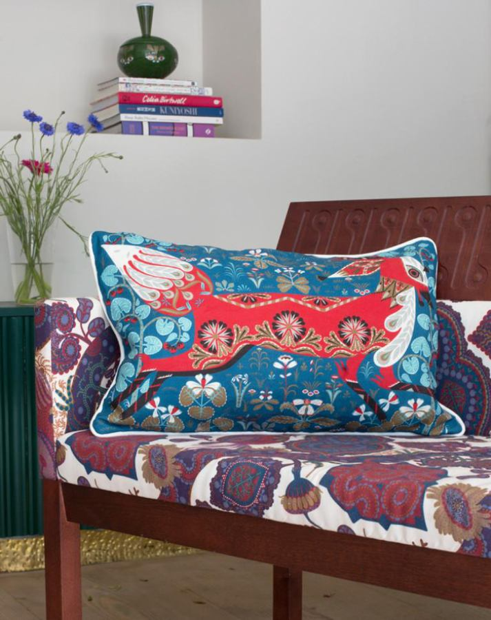 Exclusive Cushion Sleeve with Fox on Linen & Cotton