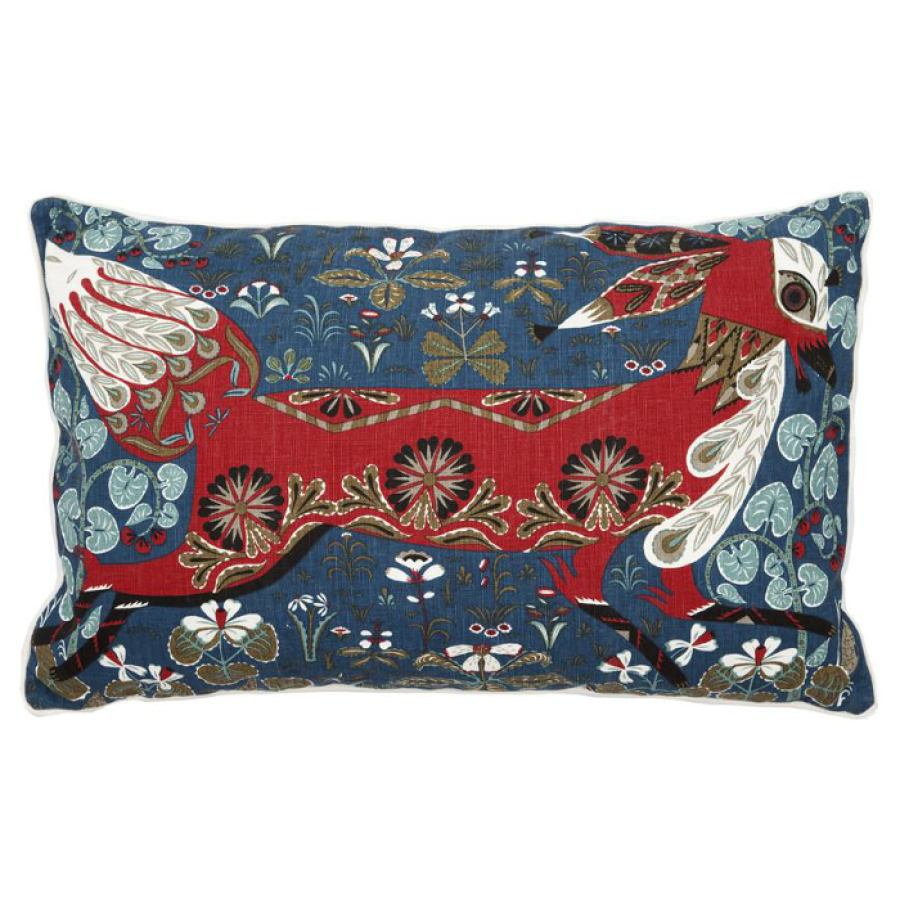 Cotton/linen cushion sleeve 'Running Fox' 55x35