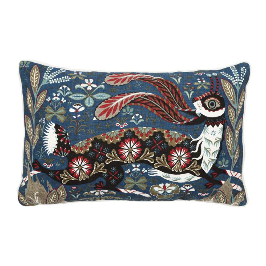 Cotton/linen cushion sleeve 'Running Hare' 50x35