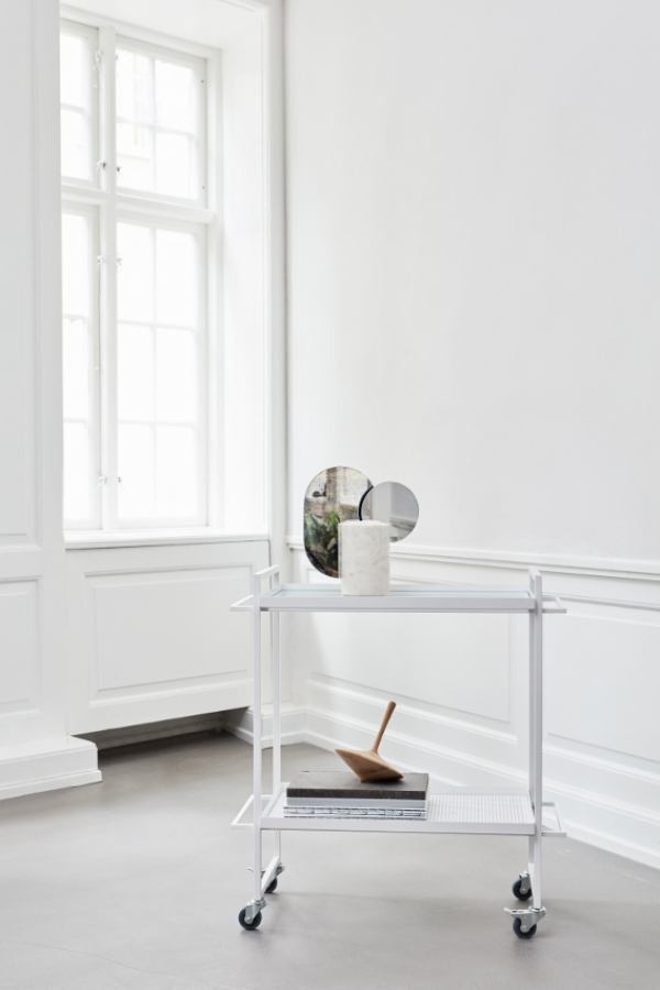 White Bauhaus Table Trolley | Kunstbaron