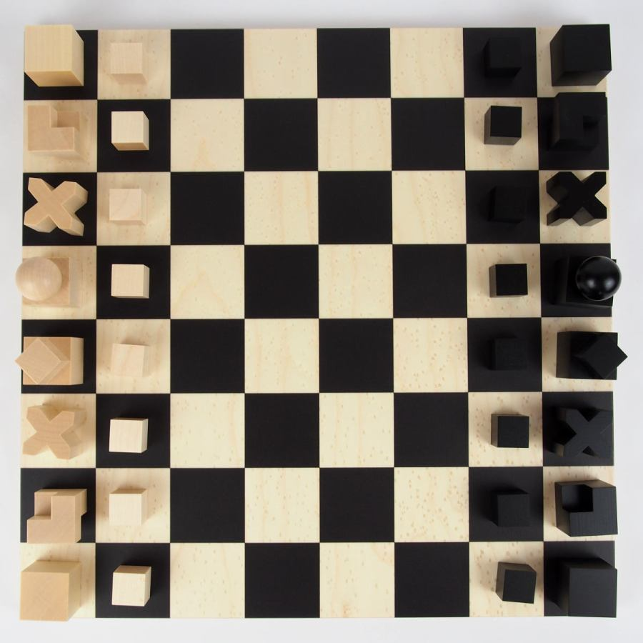 Handmade Bauhaus Chess Game