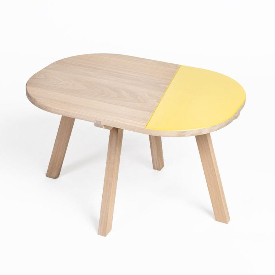 French Oak Side Table with Color of Choice (70 x 50 cm)