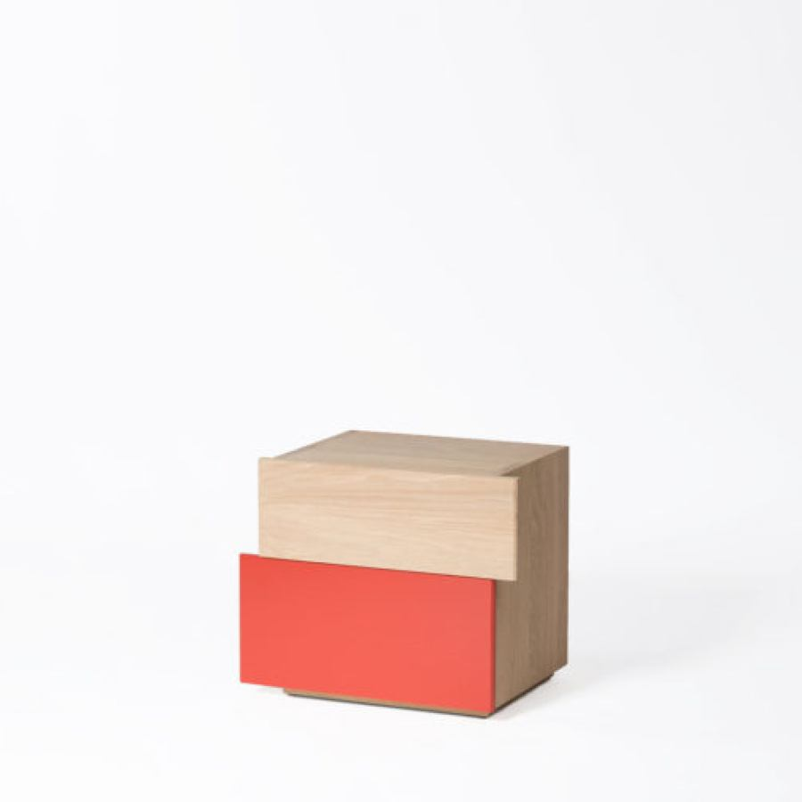 Side Table / Bedside Table with Color of Choice (55 x 39 cm)