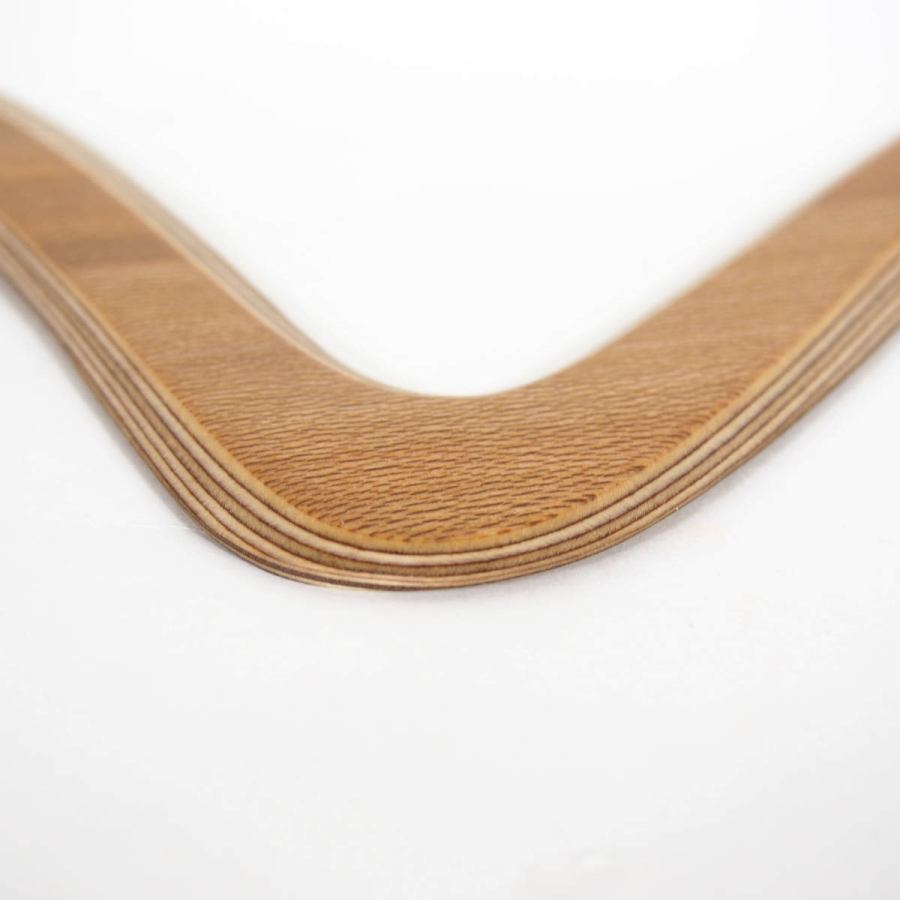 "Handcrafted Double-Wing Boomerang ""plane"" made of Birch and Planetree (flies 25 m)"