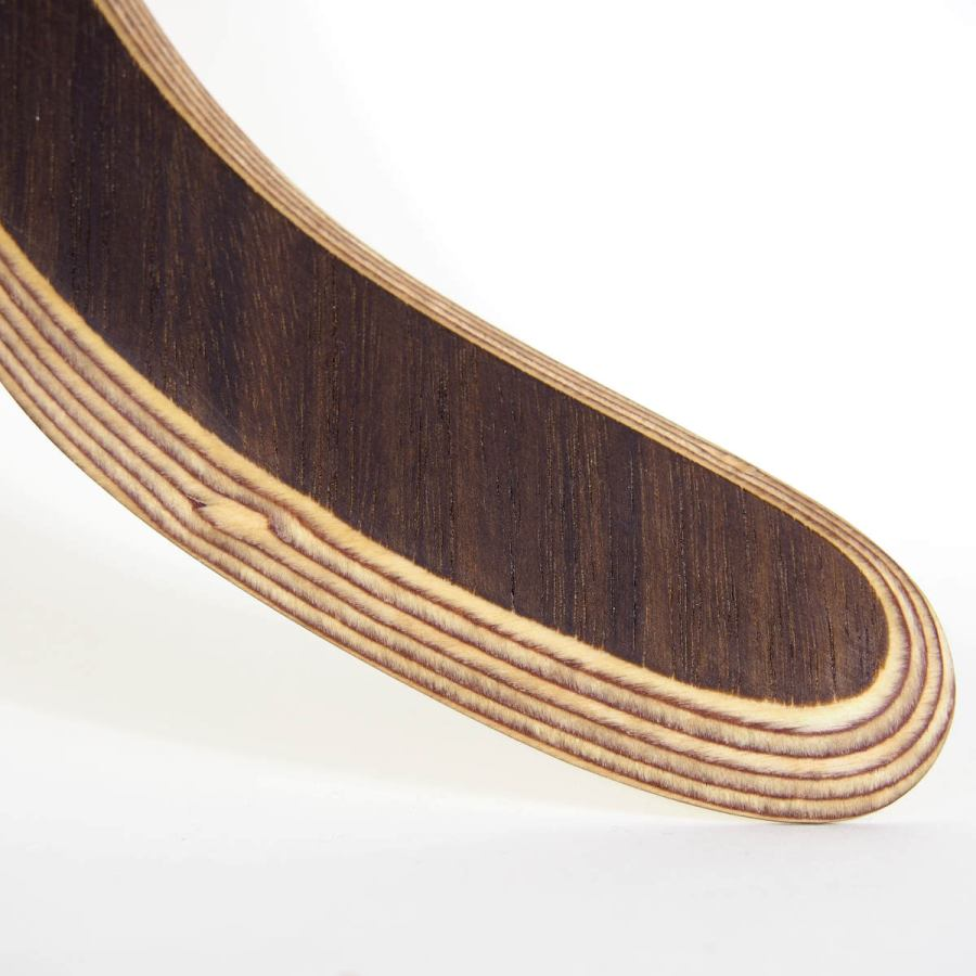 "Handcrafted Boomerang ""Venice"" made of Birch and Smoked Eucalyptus (flies 22 m)"