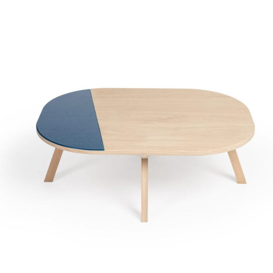 French Oak Coffe Table with Color of Choice (100 x 75 cm)