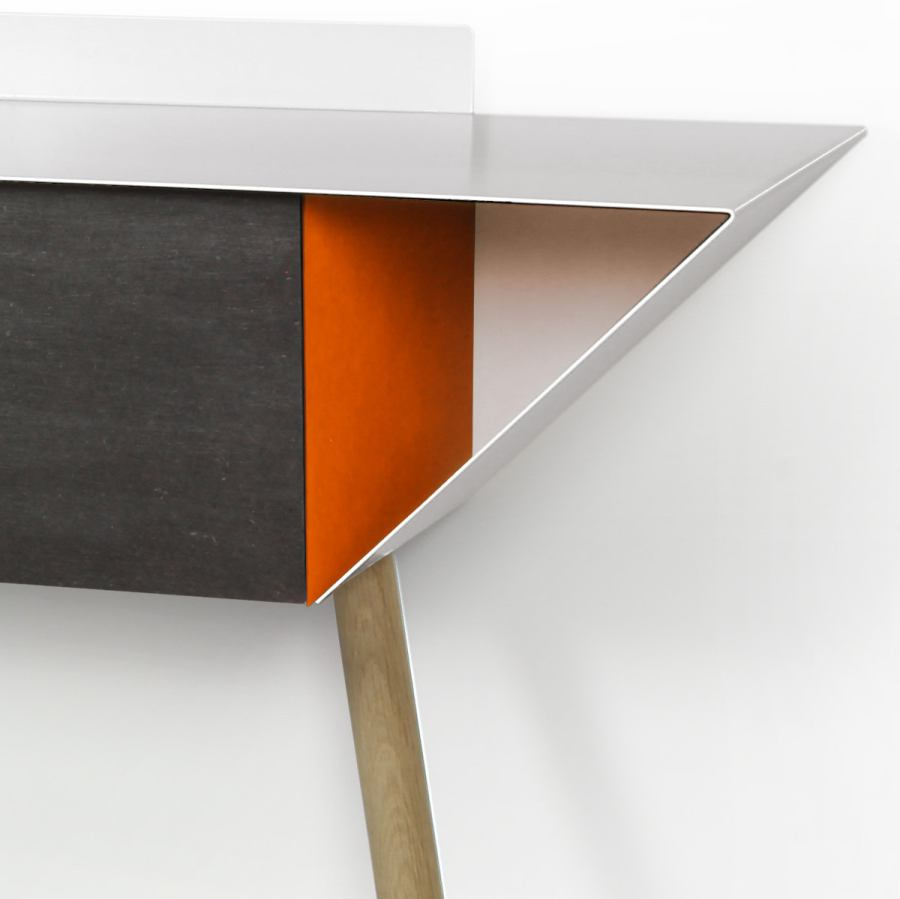 Wall-leaning Hall Cabinet with Color Choice (100 x 28 cm)
