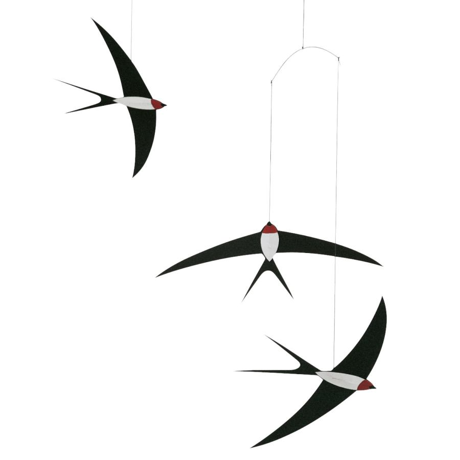 "Classic Children's Mobile ""Three Flying Swallows"""