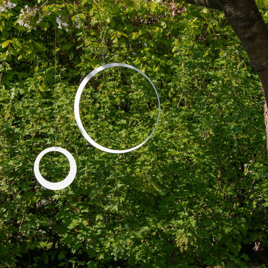 "Garden Decoration / Stainless Steel Mobile ""Ring"" in Various Sizes"