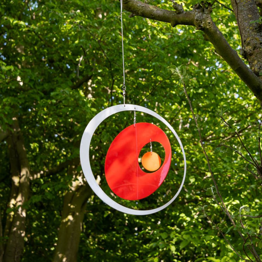 "Garden Decoration / Outdoor Mobile ""Rings"" in two sizes"