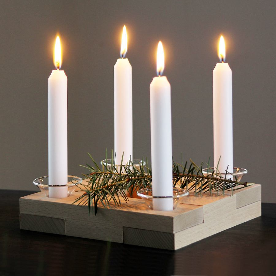 Variable Design Candle Holder for Four Candles