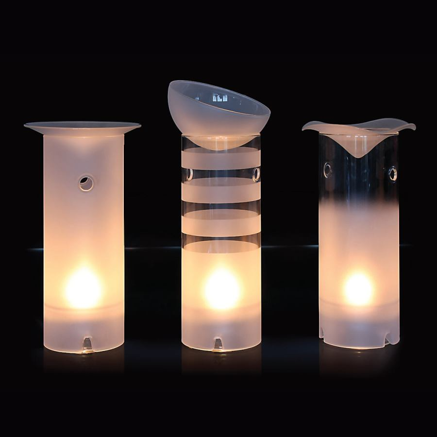Large Handmade Aroma Glass Lamp for Tealights and Scented Oil