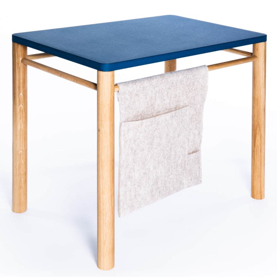 Children's table (sold separately) with felt bag