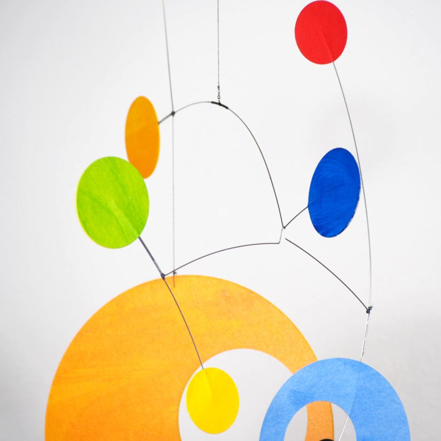 "Handmade Mid Century mobile ""Mori"" in friendly colors (50 x 35 cm)"